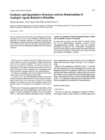 Synthesis and Quantitative Structure-Activity Relationships of Analeptic Agents Related to Dimefline.