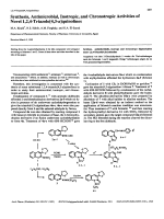 Synthesis Antimicrobial Inotropic and Chronotropic Activities of Novel 124-Triazolo[43-a]quinolines.
