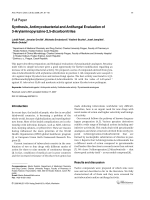 Synthesis Antimycobacterial and Antifungal Evaluation of 3-Arylaminopyrazine-25-dicarbonitriles.