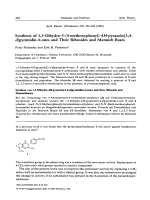 Synthesis of 15-dihydro-5-4-methoxyphenyl-4H-pyrazolo[34-d]pyrimidin-4-ones and their ribosides and mannich bases.