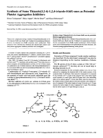 Synthesis of Some Thiazolo[32-b]-124-triazole-56H-ones as Potential Platelet Aggregation Inhibitors.