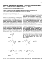Synthesis Properties and Structure of 1-Acetyl-6-4-chlorobenzylidene-2356-tetrahydroimidazo[21-b]imidazole-35-dione.