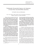 Thalidomide dramatically improves the symptoms of early-onset SarcoidosisBlau syndromeIts possible action and mechanism.