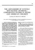 The amyloidosis of juvenile rheumatoid arthritis В Эcomparative studies in polish and american children. i. levels of serum saa protein