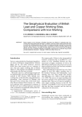 The geophysical evaluation of British lead and copper working sites. Comparisons with iron working