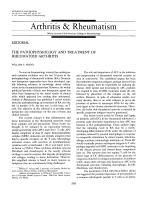 The pathophysiology and treatment of rheumatoid arthritis.