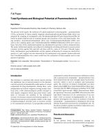 Total Synthesis and Biological Potential of Psammosilenin A.