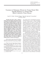 Treatment of pulmonary fibrosis for twenty weeks with imatinib mesylate in a patient with mixed connective tissue disease.