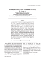 Developmental Basis of Limb Homology in Lizards.