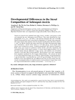 Developmental differences in the sterol composition of Solenopsis invicta.