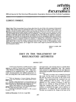 Diet in the treatment of rheumatoid arthritis.