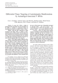 Differential tissue targeting of autoimmunity manifestations by Autoantigen-Associated Y RNAs.