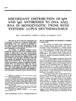 Discordant Distribution of IgM and IgG Antibodies to DNA and RNA in Monozygotic Twins with Systemic Lupus Erythematosus.