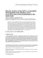 Diuretic activity of Mas-DP II an identified neuropeptide from Manduca sextaAn in vivo and in vitro examination in the adult moth.