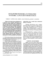Dyslipoproteinemia in pediatric systemic lupus erythematosus.