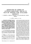 Estimates of Doses of Antiinflammatory Drugs in Man by Testing for Analgesic Potency.