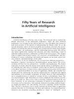 Fifty years of research in artificial intelligence.