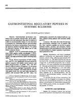 Gastrointestinal regulatory peptides in systemic sclerosis.