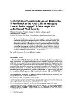 Generation of superoxide anion radical by ╬▒-terthienyl in the anal gills of mosquito larvae Aedes aegyptiA new aspect in ╬▒-terthienyl phototoxicity.
