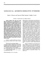 Gonococcal arthritisdermatitis syndrome. study of serum and synovial fluid immune complex levels