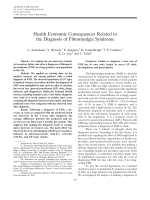 Health economic consequences related to the diagnosis of fibromyalgia syndrome.