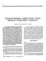 Hemarthrosis associated with sodium warfarin therapy.