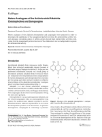 Hetero Analogues of the Antimicrobial Alkaloids Cleistopholine and Sampangine.