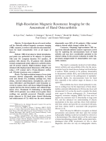 High-resolution magnetic resonance imaging for the assessment of hand osteoarthritis.