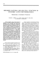 Impaired natural killer cell function in systemic lupus erythematosus.