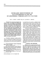 Increased biosynthesis of glycosaminoglycans by scleroderma fibroblasts in culture.