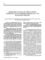 Increased levels of circulating intercellular adhesion molecule 1 in kawasaki disease.