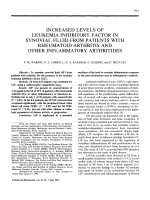Increased levels of leukemia inhibitory factor in synovial fluid from patients with rheumatoid arthritis and other inflammatory arthritides.