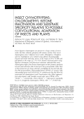 Insect chymotrypsinschloromethyl ketone inactivation and substrate specificity relative to possible coevolutional adaptation of insects and plants.