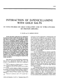 Interaction of D-Penicillamine with Gold Salts.