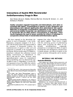 Interactions of aspirin with nonsteroidal antiinflammatory drugs in man.