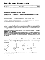 Intramolekulare Aromatenalkylierungen 18. Mitt. Synthese von 34-Dihydro-1 В╨Ж-methylspiro[naphthalin-12H 4 В╨Ж-piperidinen]