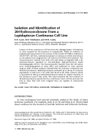 Isolation and identification of 20-hydroxyecdysone from a lepidopteran continuous cell line.
