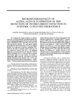 Microheterogeneity of alpha1-acid glycoprotein in the detection of intercurrent infection in systemic lupus erythematosus.