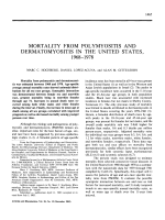 Mortality from polymyositis and dermatomyositis in the united states 19681978.