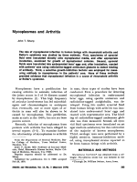 Mycoplasmas and arthritis.