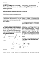 Nitroimidazoles XIVSynthesis of 4-Nitroimidazoles with 1-Substituents Containing Acid Ester or Phenol Functions and Radiosensitizing Efficiency of Some of These Compounds.