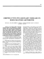 Obstructive pulmonary disease in rheumatoid arthritis.