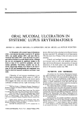 Oral mucosal ulceration in systemic lupus erythematosus.