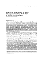 OverviewNew targets for insect management in crop protection.