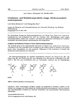 Oxidations- und Reduktionsprodukte einiger Hydroxymethyl-monoterpenone.