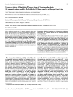 Oxoaporphine AlkaloidsConversion of Lysicamine into Liriodendronine and its 2-O-Methyl Ether and Antifungal Activity.