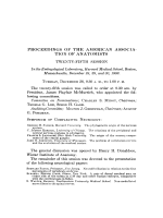 Proceedings of the American Association of Anatomists. Twenty-fifth session. In the Embryological Laboratory  Harvard Medical School  Boston  Massachusetts  December 28  29  and 30  1909