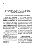 Quantitation of human synovial mast cells in rheumatoid arthritis and other rheumatic diseases.
