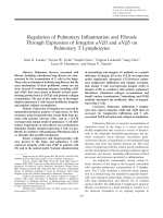 Regulation of pulmonary inflammation and fibrosis through expression of integrins ╨Ю┬▒V 3 and ╨Ю┬▒V 5 on pulmonary T lymphocytes.