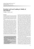 Resultant and local loading in models of joint disease.
